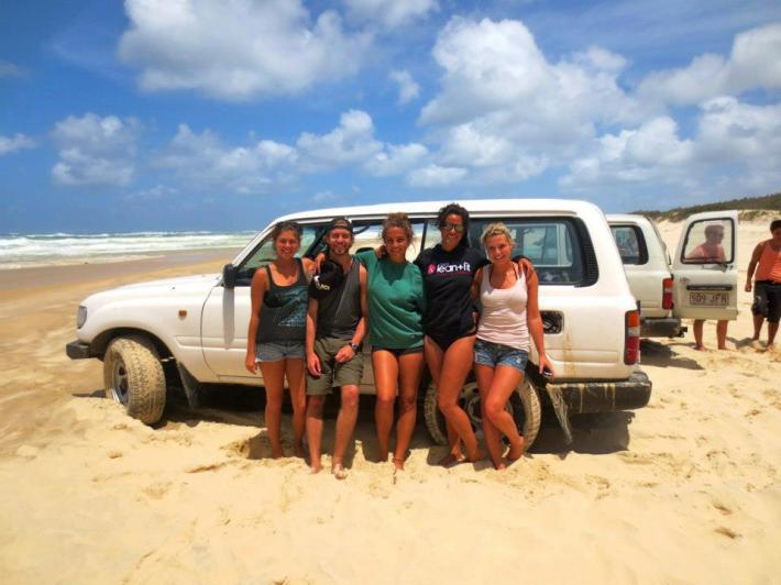 Getting stuck on Fraser Island